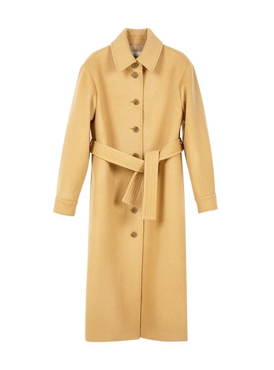 Single Maxi Coat in Beige_VW9WH0540