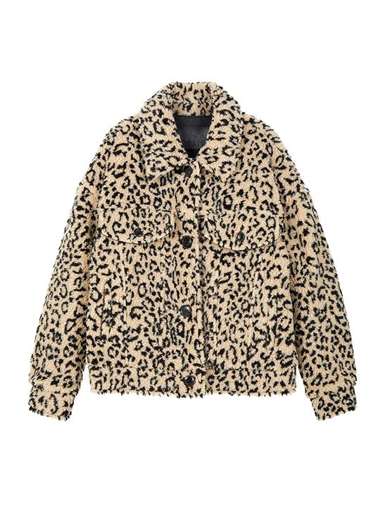 Print Teddy Bear Jacket in Leopard_VW9WJ0570