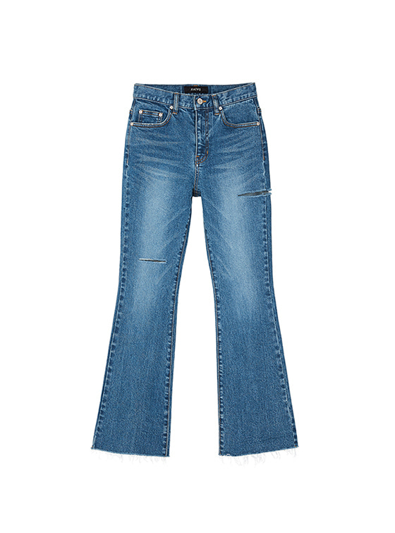 Ripped Bootcut Jeans in Blue_VJ8AL0850