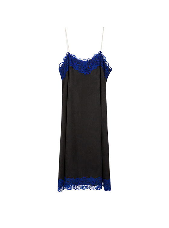 Lace Cami One Piece in Black_VW8SO0440
