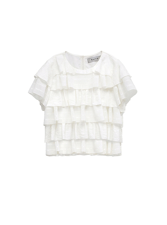 Frill Layered Blouse in White_VW8MB0370