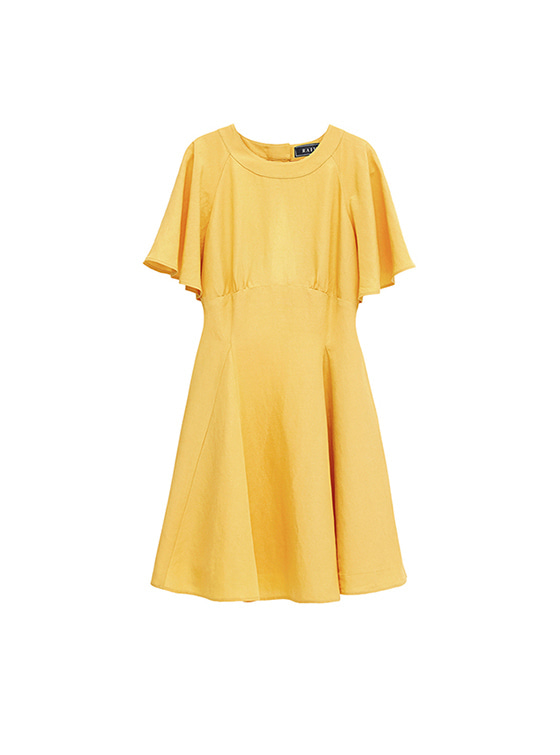Linen Flare One Piece in Yellow_VW8MO0270