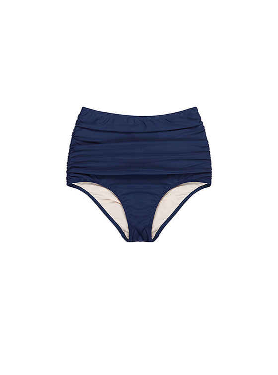 Colorful High-Waist Bikini Bottom in Navy_VW8MX0960