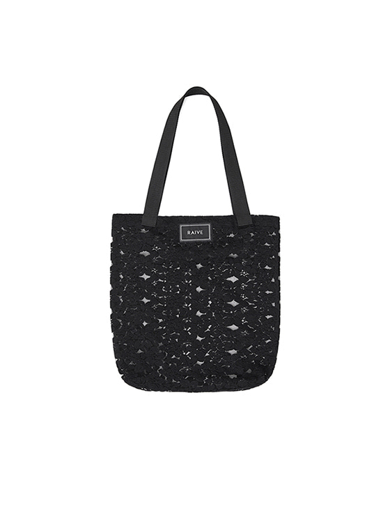 Lace Eco Bag in Black_VX8MG0970