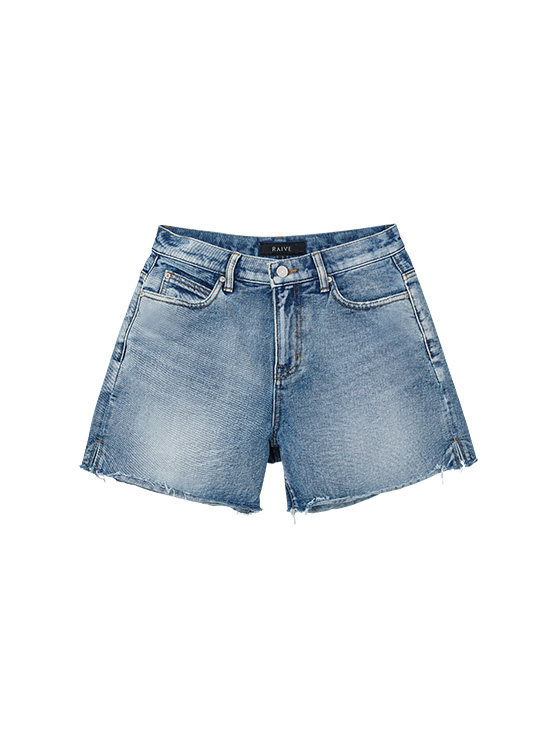 Washing Denim Shorts in Blue_VJ0SL0900