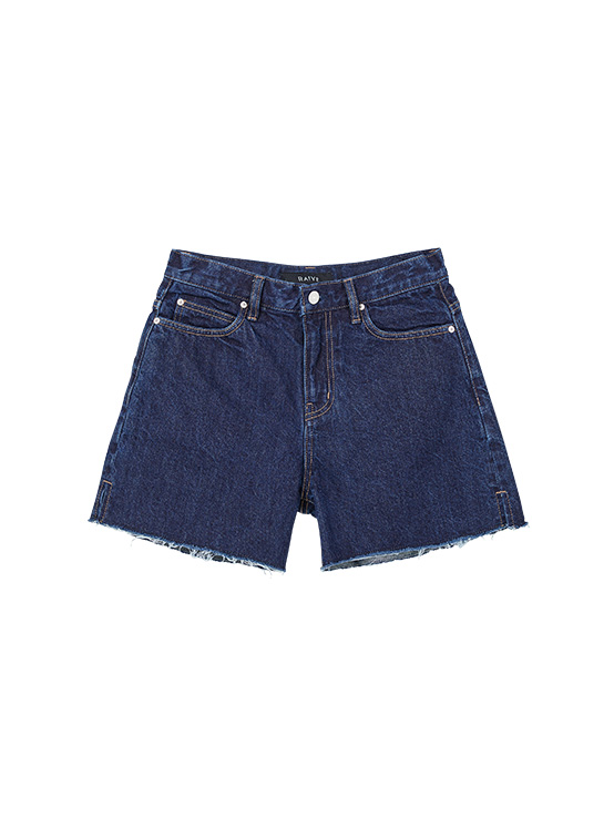 Washing Denim Shorts in Indigo Blue_VJ0SL0900