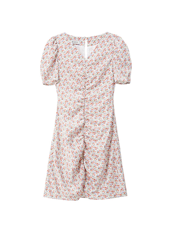 V Neck Floral One-piece in Ivory_VW0SO1200