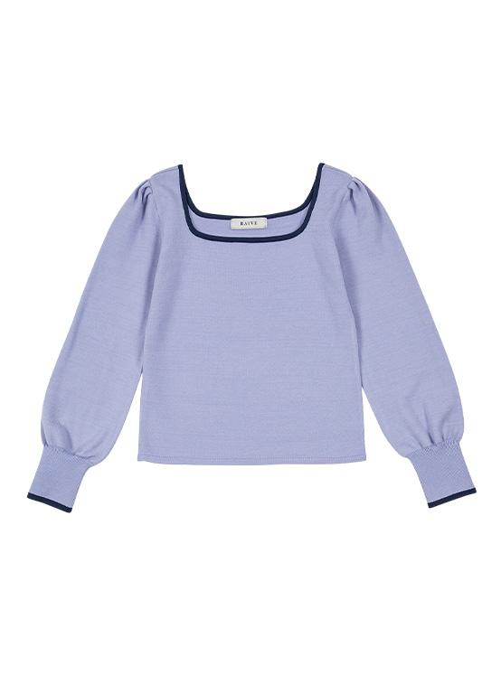 Color Line Square Neck Knit in L/Purple_VK0SP1270