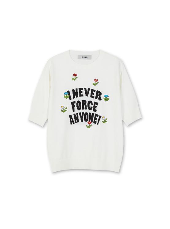 X PIPPI Jacquard 7 Flower Knit in White_VK0SP1310
