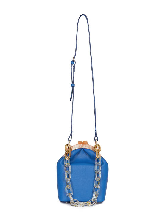 Real Leather Donna Bag in Blue_VX0MG1700