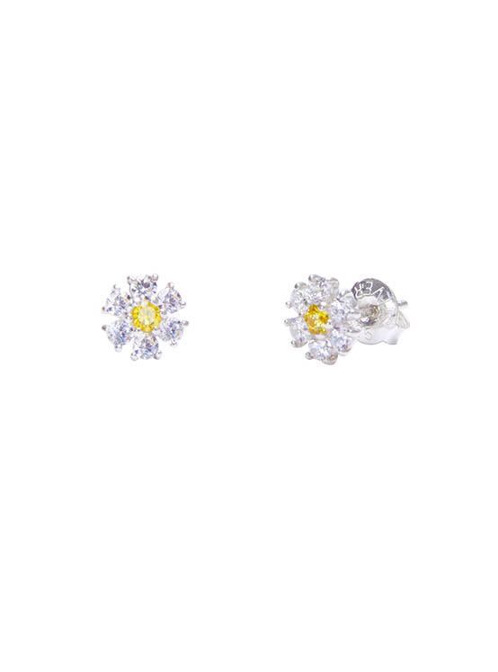 Shining Daisy Earrings in White_VX0MX0610