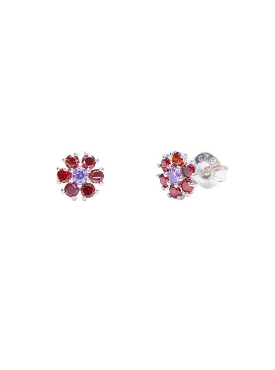 Shining Daisy Earrings in Red_VX0MX0610