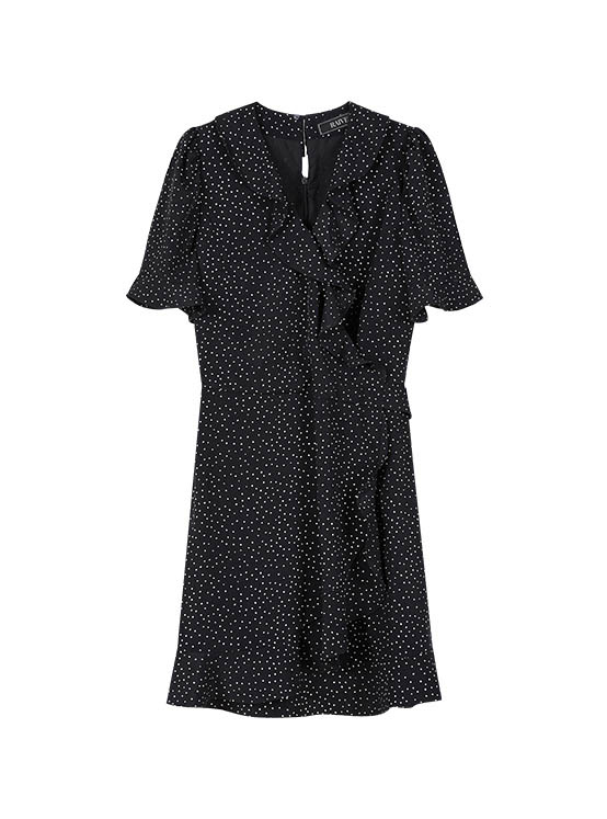 Dot Frill One Piece in Black_VW0MO1450