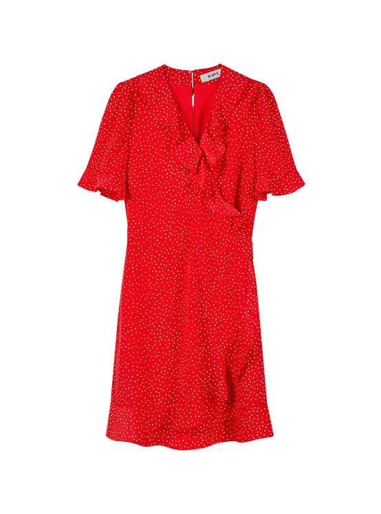 Dot Frill One Piece in Red_VW0MO1450