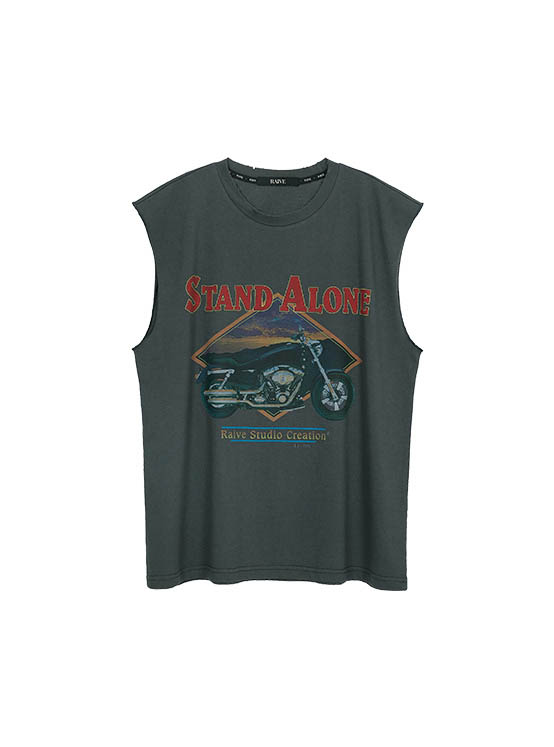 Motorcycle Print Tank Top in D/Grey_VW0ME1560