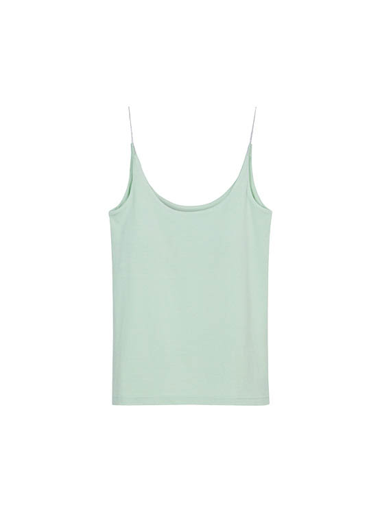Color Strap Sleeveless Top in Mint_VW0ME1600