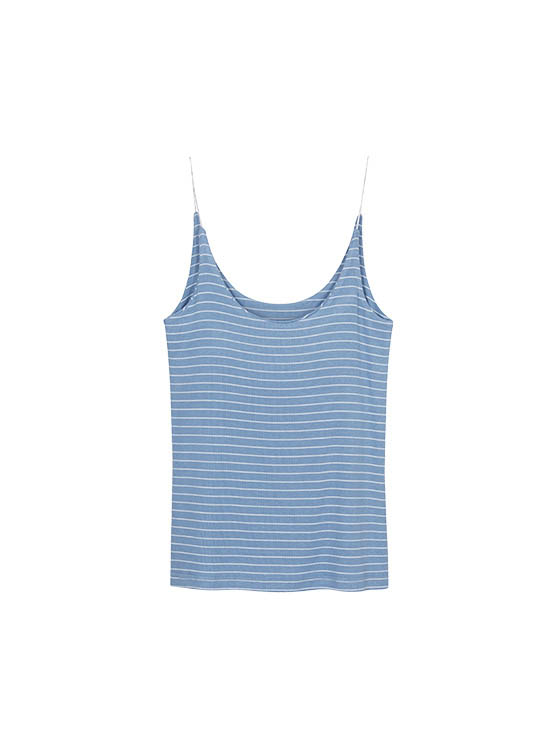 Stripe Strap Sleeveless Top in Blue_VW0ME1610