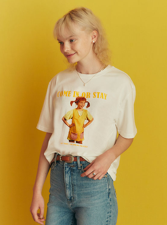 X PIPPI Come In Tee in White_VW0ME1790