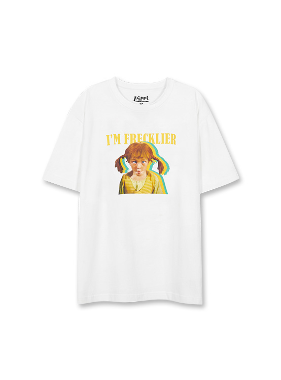 X PIPPI Freckle Tee in White_VW0ME1810