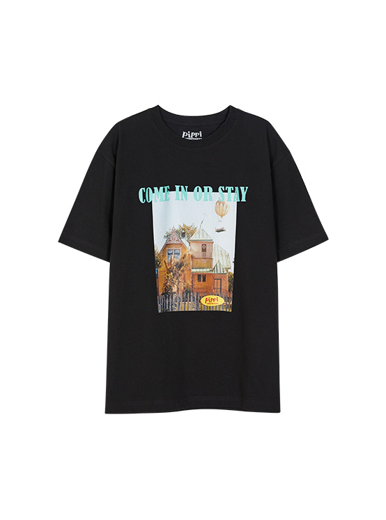 X PIPPI House Tee in Black_VW0ME1820