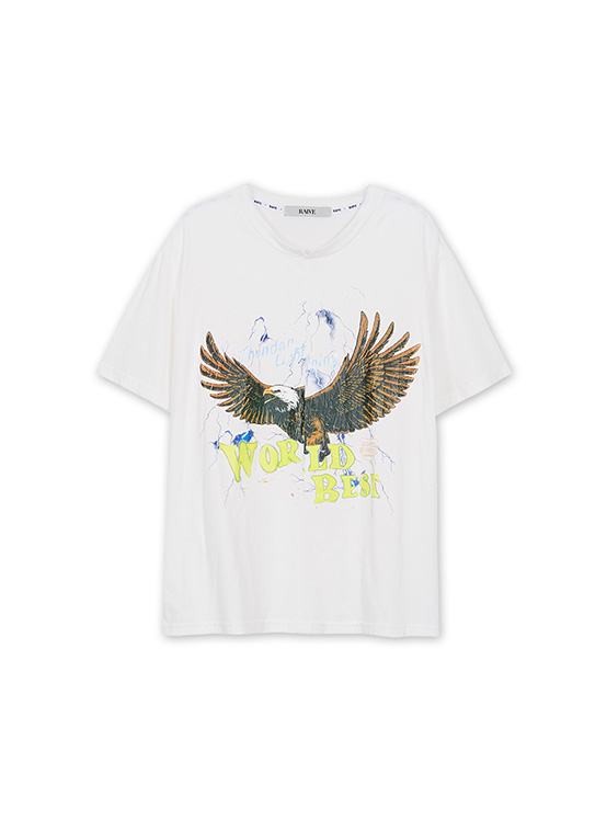 Eagle Thunder Print Tee in White_VW0AE1370