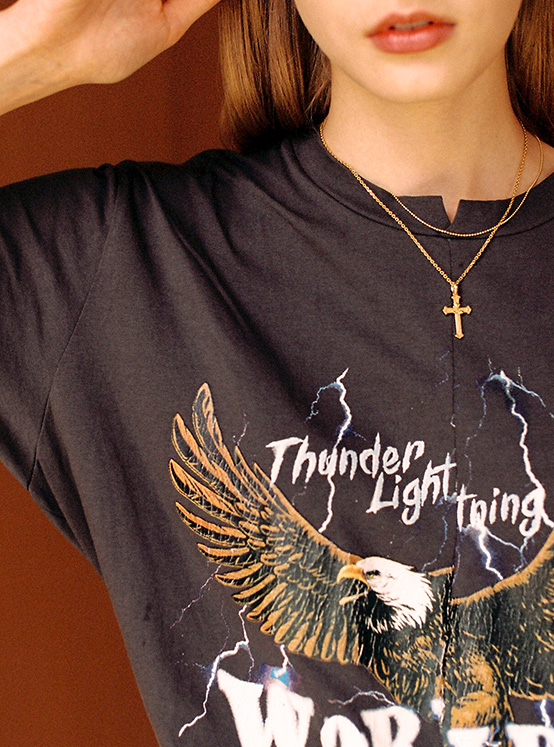 Eagle Thunder Print Tee in D/Grey_VW0AE1370