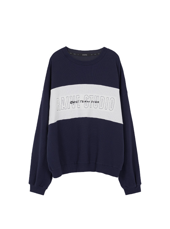 Embroidery Waffle MTM in Navy_VW0AE1430