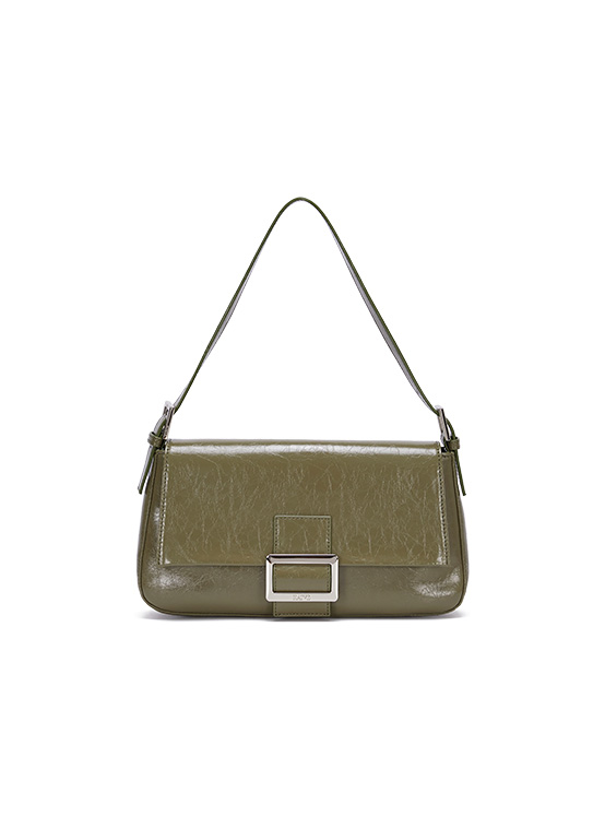 Wrinkle Leather Luke Bag in Olive_VX0AG0850