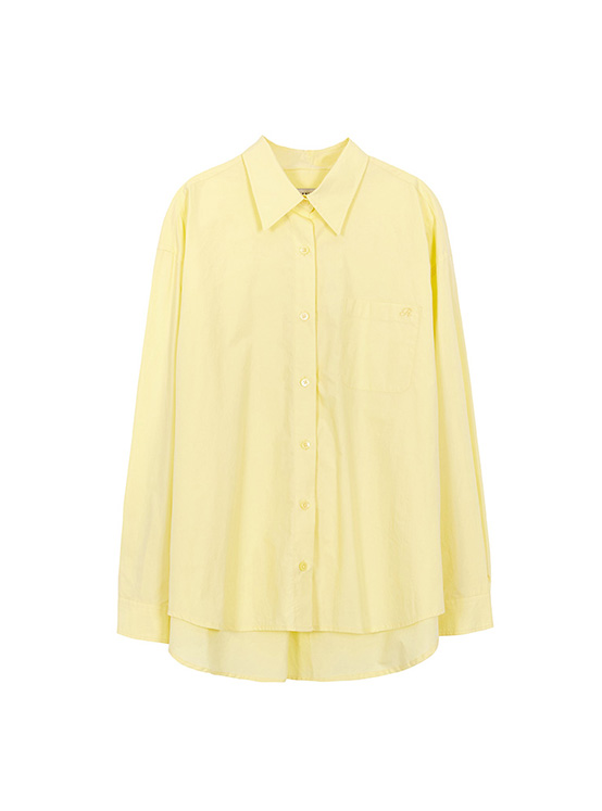 Light Oversized Shirt in L/Yellow_VW0AB1770
