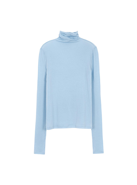 See Through Turtleneck Tee in Blue_VW0AE1330