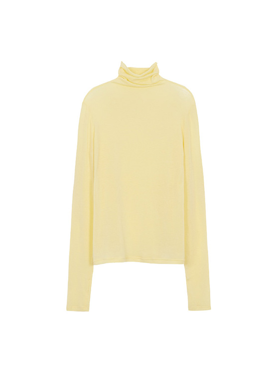 See Through Turtleneck Tee in L/Yellow_VW0AE1330