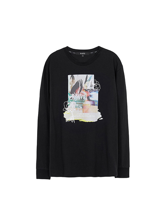 Photo Edit Print Tee in Black_VW0AE1350