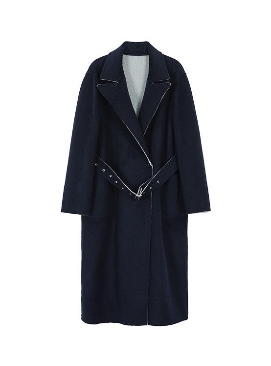 Hairy Reversible Handmade Maxi Coat in Mint_VW0AH1600