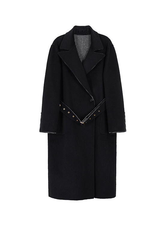 Hairy Reversible Handmade Maxi Coat in Black_VW0AH1600