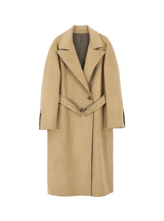 Hairy Reversible Handmade Maxi Coat in Brown_VW0AH1600