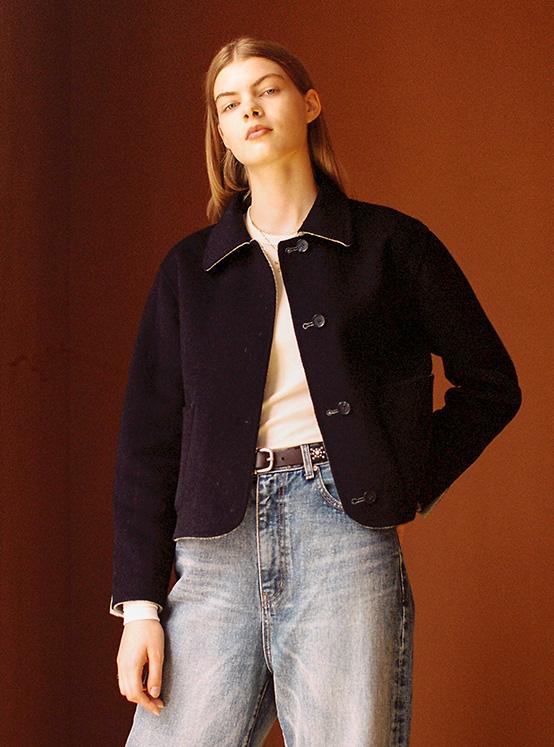 Hairy Reversible Handmade Jacket in Mint_VW0AH1650