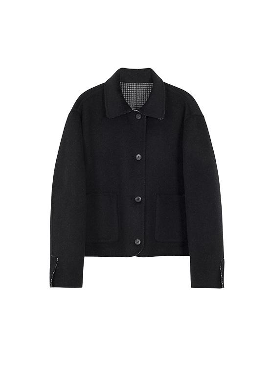 Hairy Reversible Handmade Jacket in Black_VW0AH1650