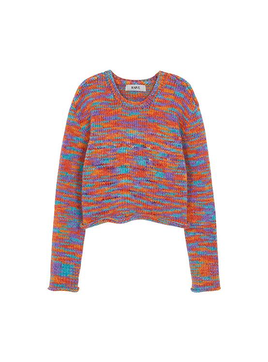 Multi Color Crop Knit in Orange Multi_VK0AP2250